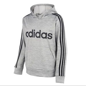 Boys adidas 3-stripped Hooded Fleece Pullover